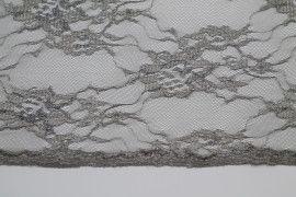 Tissu Dentelle Lurex Gris clair -Au Mètre