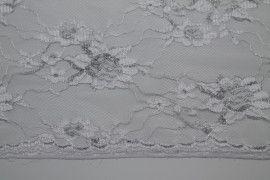 Tissu Dentelle Lurex Blanc -Au Mètre