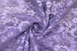 Tissu Dentelle Lurex Parme -Coupon de 3 mètres