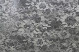 Tissu Dentelle Lurex Gris clair -Coupon de 3 mètres