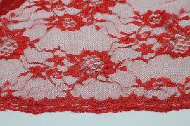 Tissu Dentelle Lurex Rouge -Coupon de 3 mètres
