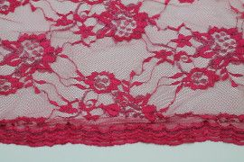 Tissu Dentelle Lurex Fuchsia -Coupon de 3 mètres
