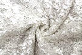 Tissu Dentelle Lurex Blanc casse -Coupon de 3 Metres