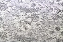 Tissu Dentelle Lurex Blanc -Coupon de 3 mètres