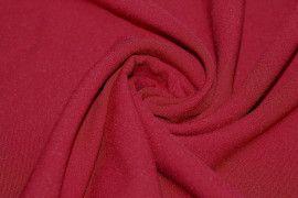 Tissu Burlington infroissable Uni Rouge bordeaux -Au Metre