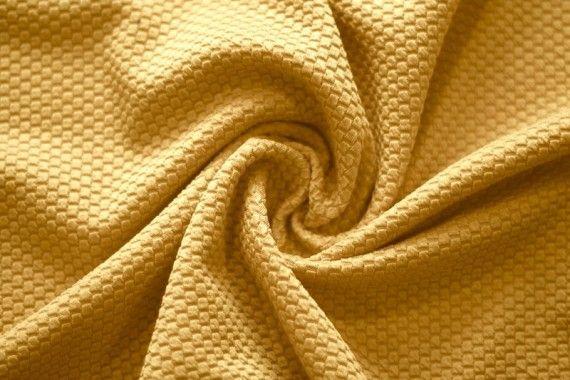 Tissu Nid d'abeille Safran -Coupon de 3 mètres