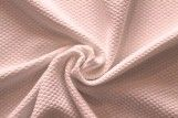 Tissu Nid d'abeille Rose pâle -Coupon de 3 mètres
