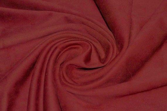 Tissu Suédine Maille Lourde Rouge -Au Mètre