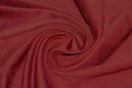 Tissu Suédine Maille Lourde Rouge -Coupon de 3 mètres