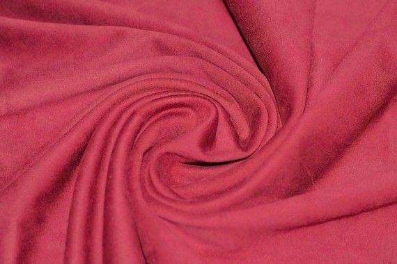 Tissu Suédine Maille Lourde Corail -Coupon de 3 mètres