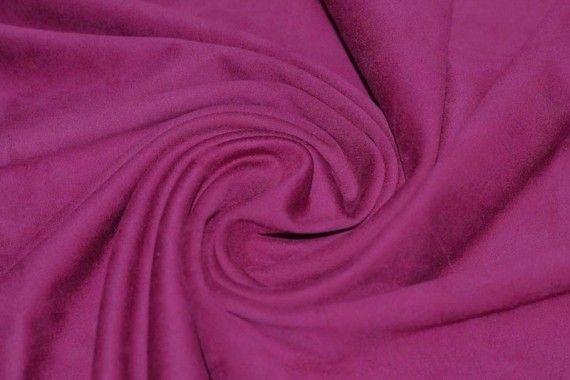 Tissu Suédine Maille Lourde Fuchsia -Coupon de 3 mètres