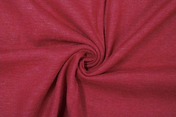 Tissu Lin Viscose Rouge -Au Mètre