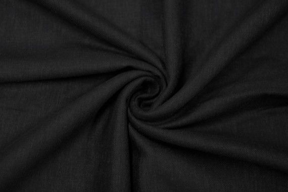 Tissu Lin Viscose Noir -Au Mètre