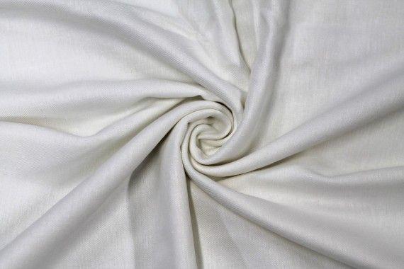 Tissu Lin Viscose Blanc -Coupon de 3 mètres