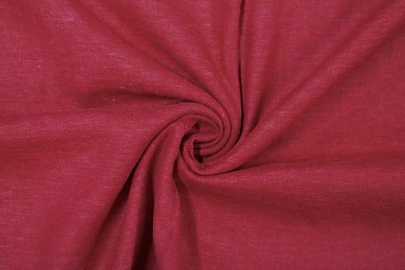 Tissu Lin Viscose Rouge -Coupon de 3 mètres