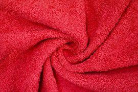 Tissu Éponge Bulky Rouge -Au Mètre