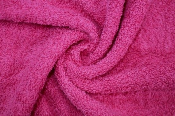 Tissu Éponge Bulky Fuchsia -Au Mètre