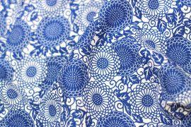 Tissu Viscose Imprimée Rosace Royal -Au Mètre