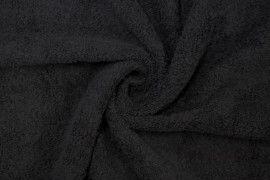 Tissu Éponge Bulky Noir -Au Mètre
