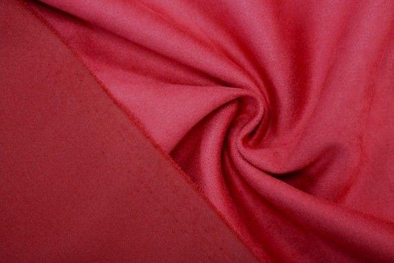 Tissu Néoprène Scuba Suédine Rouge -Coupon de 3 mètres