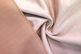 Tissu Néoprène Scuba Suédine Rose -Coupon de 3 mètres