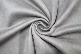 Tissu Néoprène Scuba Suédine Taupe -Coupon de 3 mètres