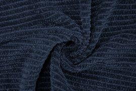 Tissu Maille Tricot Chenille Marine -Au Mètre
