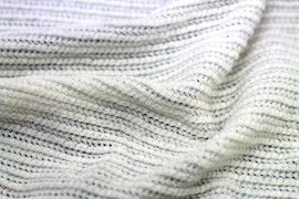 Tissu Maille Tricot Chenille Ecru -Au Mètre