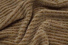 Tissu Maille Tricot Chenille Camel -Au Mètre