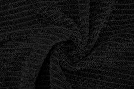 Tissu Maille Tricot Chenille Noir -Coupon de 3 mètres