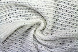 Tissu Maille Tricot Chenille Ecru -Coupon de 3 mètres