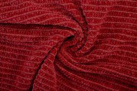 Tissu Maille Tricot Chenille Rouge -Coupon de 3 mètres