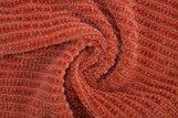 Tissu Maille Tricot Chenille Brique -Coupon de 3 mètres