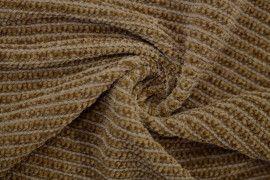 Tissu Maille Tricot Chenille Camel -Coupon de 3 mètres