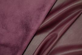 Tissu Simili Cuir envers Suédine Bordeaux -Au Mètre