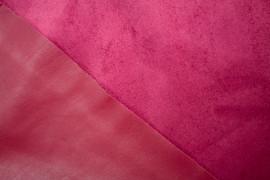 Tissu Simili Cuir envers Suédine Rouge -Au Mètre