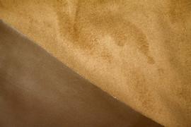 Tissu Simili Cuir envers Suédine Camel -Au Mètre