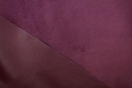 Tissu Simili Cuir envers Suédine Bordeaux -Coupon de 3 mètres