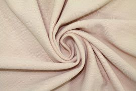 Tissu Maille Piquée Rose pâle -Au Mètre