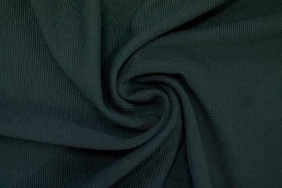 Tissu Maille Piquée Vert sapin -Au Mètre