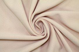 Tissu Maille Piquée Rose pâle -Coupon de 3 mètres