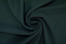 Tissu Maille Piquée Vert sapin -Coupon de 3 mètres