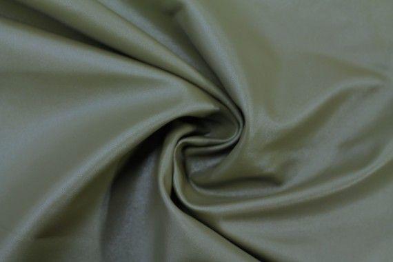 Tissu Simili Cuir Uni Kaki -Au Mètre