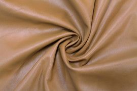 Tissu Simili Cuir Uni Camel -Coupon de 3 mètres