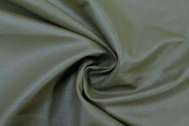 Tissu Simili Cuir Uni Kaki -Coupon de 3 mètres