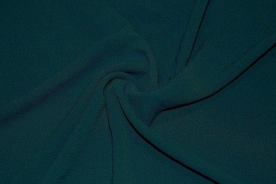 Tissu Crêpe Marocain Vert sapin -Coupon de 3 mètres