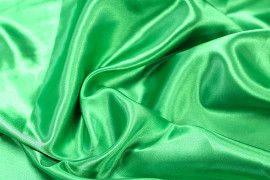 Tissu Satin Polyester Vert drapeau -Au Mètre