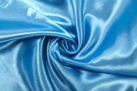Tissu Satin Polyester Turquoise -Au Mètre