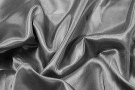 Tissu Satin Polyester Gris foncé -Au Mètre