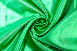 Tissu Satin Polyester Vert drapeau -Coupon de 3 mètres